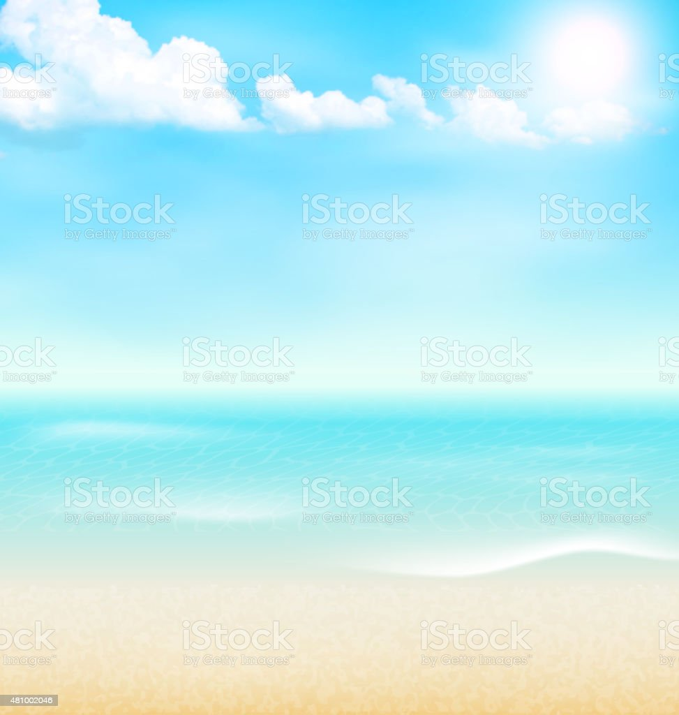 Mare Spiaggia Riva Del Mare Nuvole Sfondo Vacanza Estiva Immagini