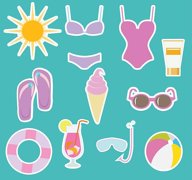 Juego de playa - ilustración de arte vectorial