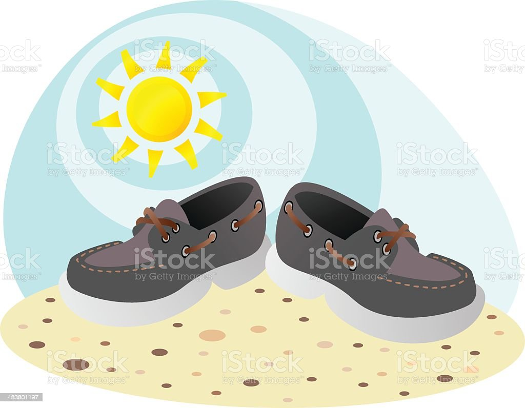 Beach shoes royalty-free beach shoes stock vector art & more images of beach