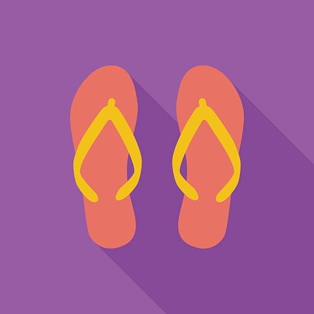 stockillustraties, clipart, cartoons en iconen met beach slippers - sandaal