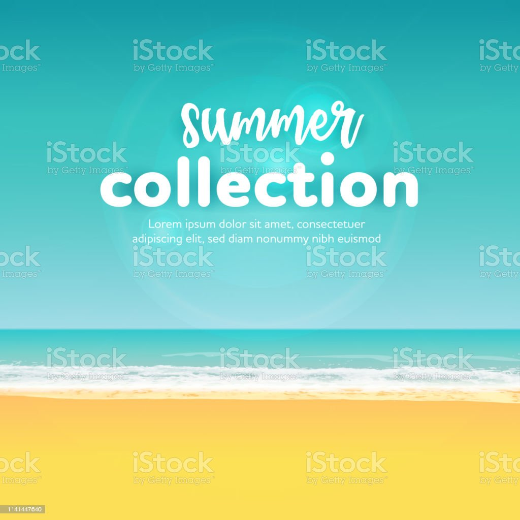 Beach Summer Background vector art illustration
