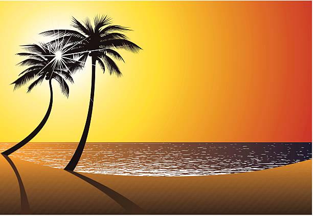 beach-sonne, sand und meer. vektor - buchten stock-grafiken, -clipart, -cartoons und -symbole
