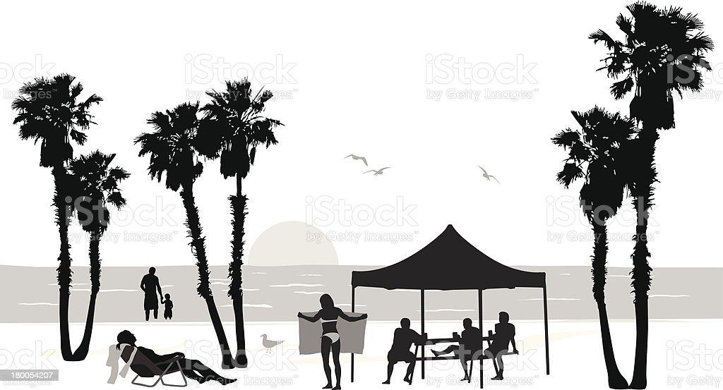 Beach Tent royalty-free stock vector art