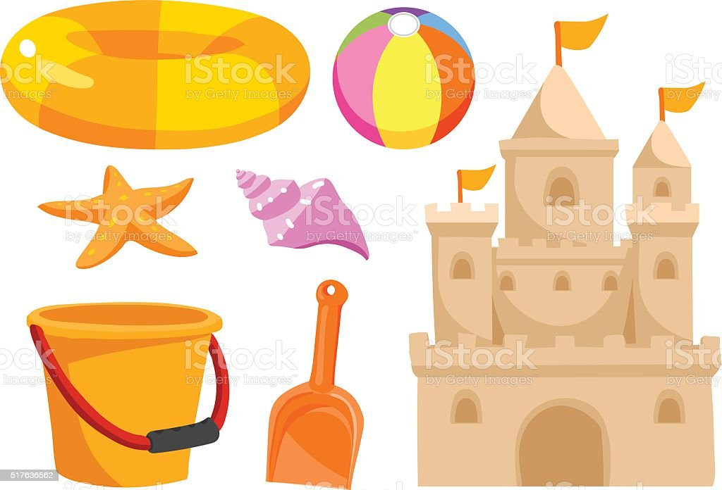 royalty free sand castle clip art vector images illustrations rh istockphoto com build sandcastle clipart sand castle clip art black and white