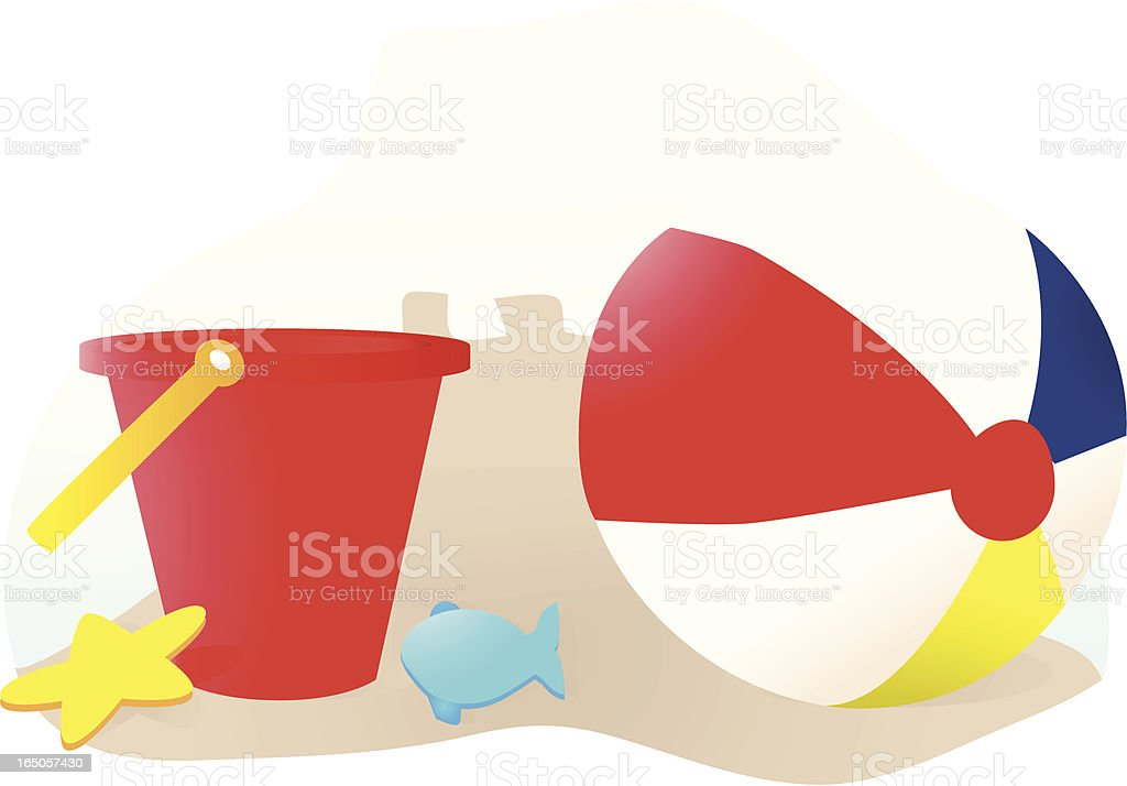 Beach Toys royalty-free stock vector art