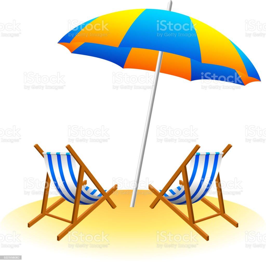 parasol de plage et chaises longues sur la terrasse cliparts vectoriels et plus d 39 images de. Black Bedroom Furniture Sets. Home Design Ideas