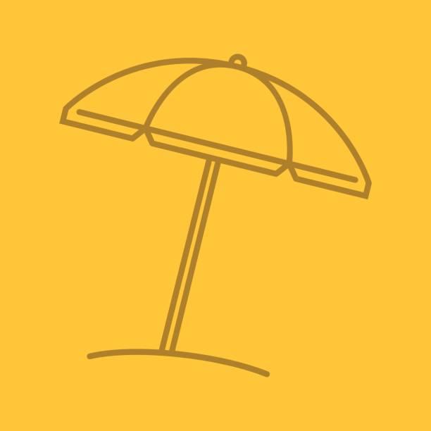 Beach umbrella icon vector art illustration