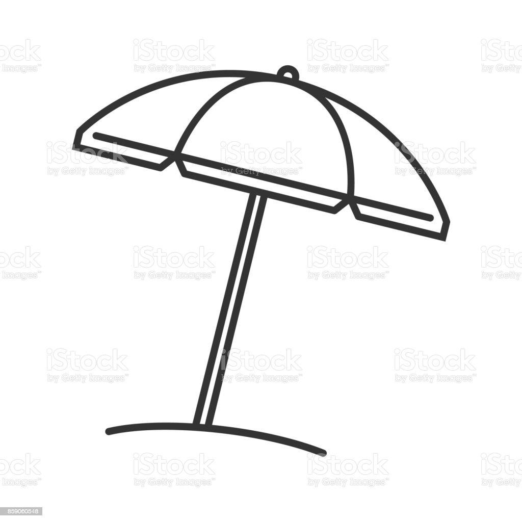 Line Art Umbrella : Icône parasol de plage cliparts vectoriels et plus d