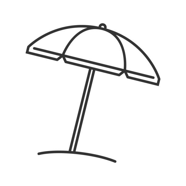 Line Drawing Umbrella : Royalty free parasol clip art vector images