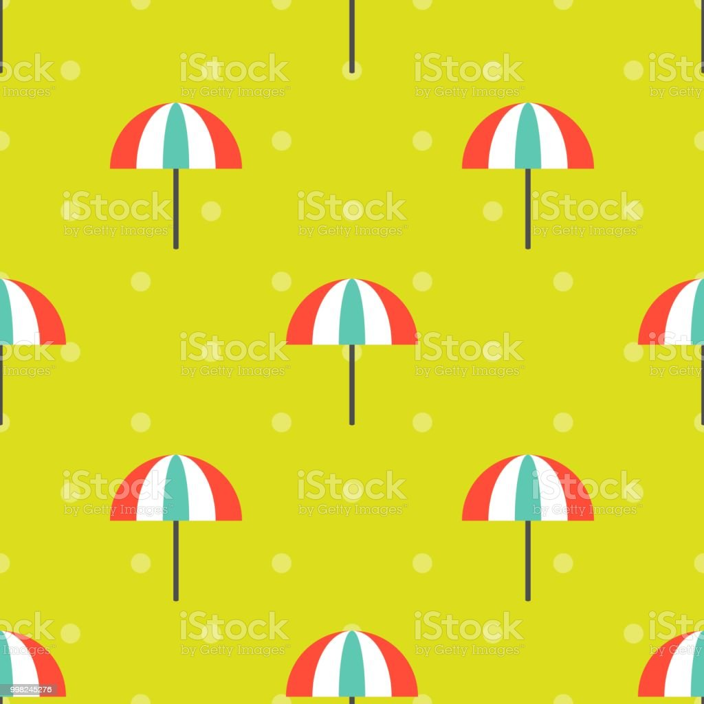 Beach Umbrella Seamless Pattern For Use As Wrapping Paper Gift Or Wallpaper And Printing Summer