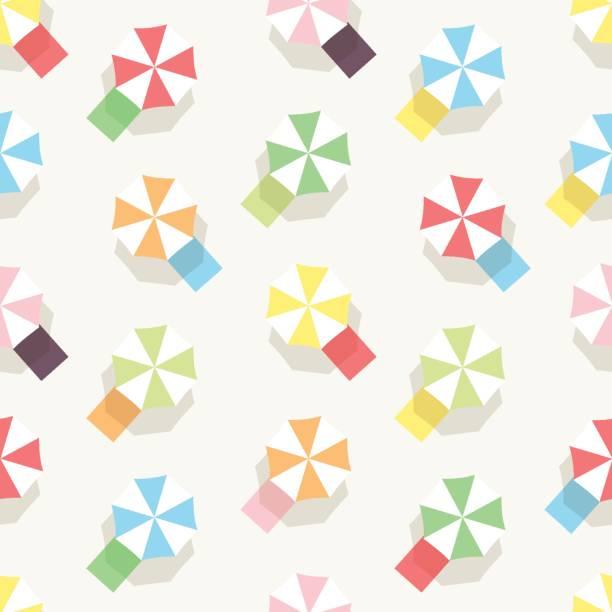 Beach Umbrella Seamless Pattern vector art illustration