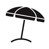istock Beach Umbrella Travel Glyph Icon 1305166054