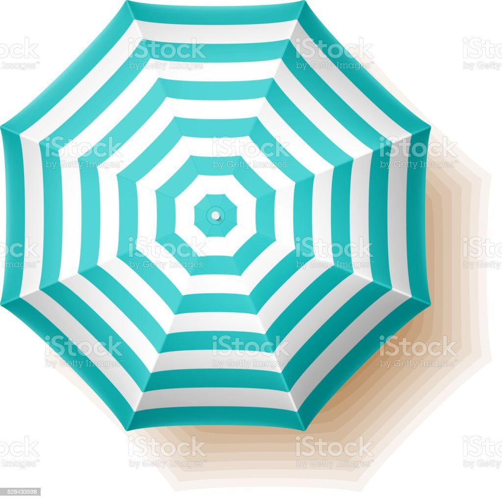 Beach umbrella vector art illustration