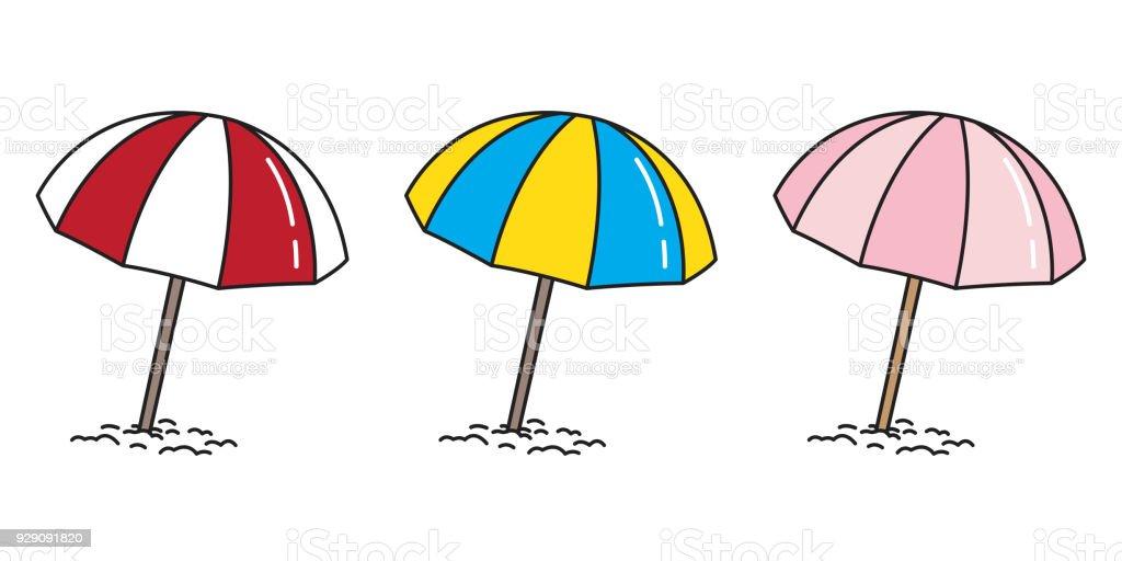 beach umbrella vector illustration summer sea ocean icon cartoon rh istockphoto com beach umbrella cartoon drawing Cartoon Beach Chair