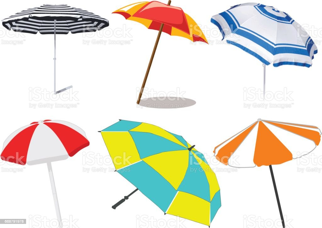 royalty free beach umbrella clip art vector images illustrations rh istockphoto com beach umbrella clipart images beach umbrella clipart images