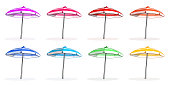 Beach umbrellas set