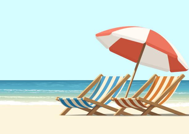 ilustraciones, imágenes clip art, dibujos animados e iconos de stock de playa - playa