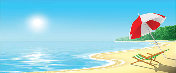ilustraciones, imágenes clip art, dibujos animados e iconos de stock de la playa - playa