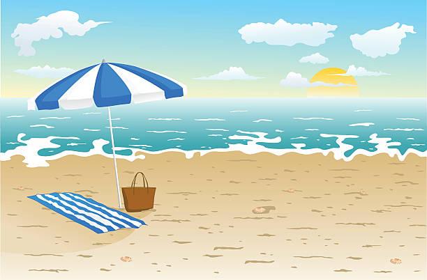 La playa - ilustración de arte vectorial