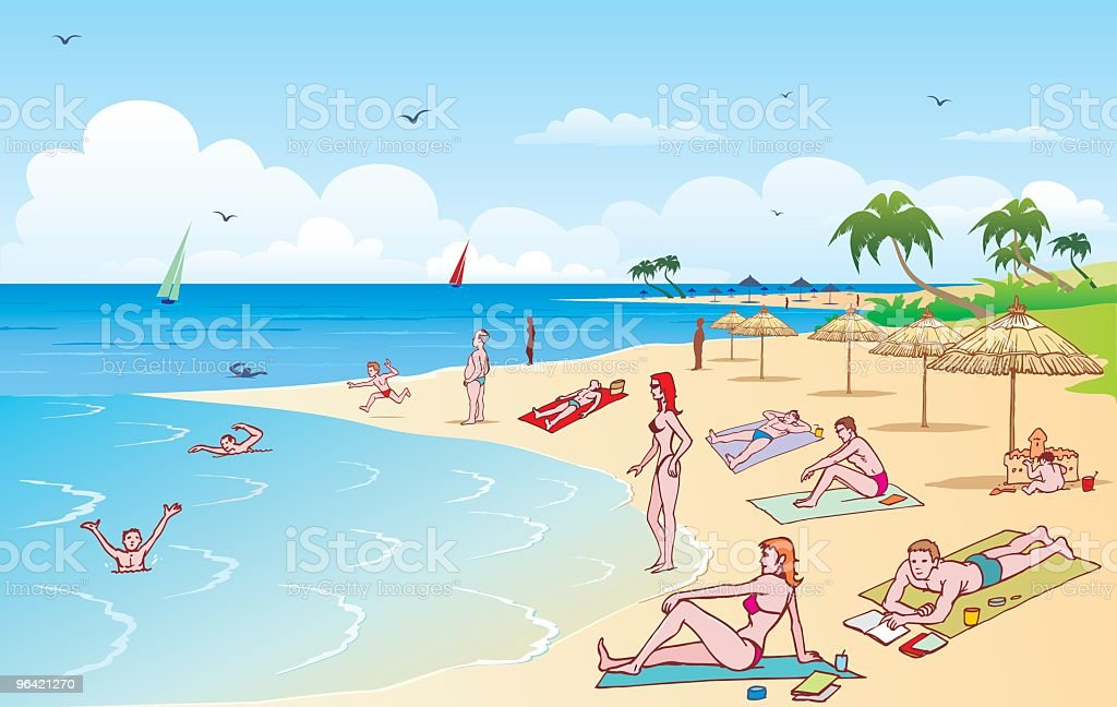 Beach royalty-free beach stock vector art & more images of adult
