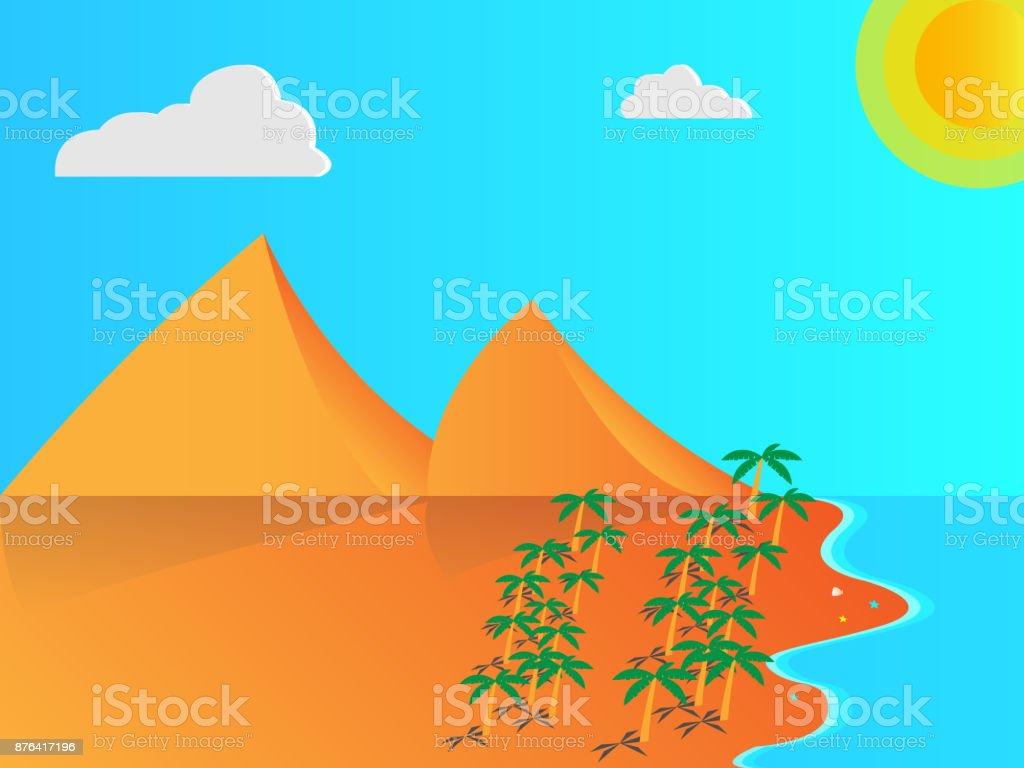 Beach vector illustration vector art illustration