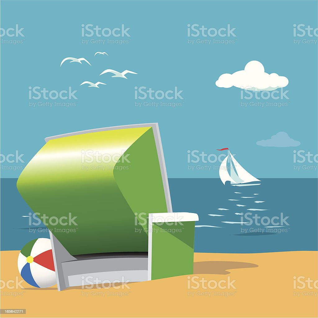 Beach View royalty-free stock vector art