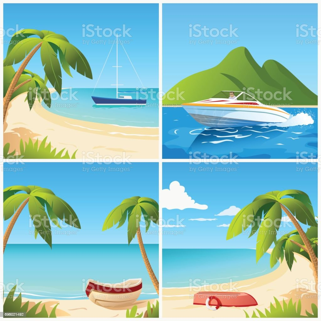 Beach view with boat
