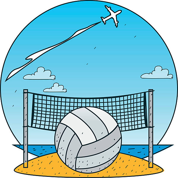 Beach Volleyball Clip Art, Vector Images & Illustrations ...