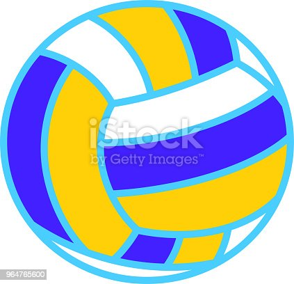 Beach Volleyball Illustration 2 Stock Vector Art & More Images of August 964765600