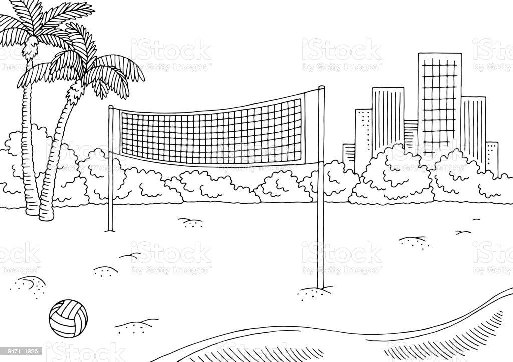 Ilustración de Paisaje De Ciudad Blanca Negro Gráfico Del Deporte De ...
