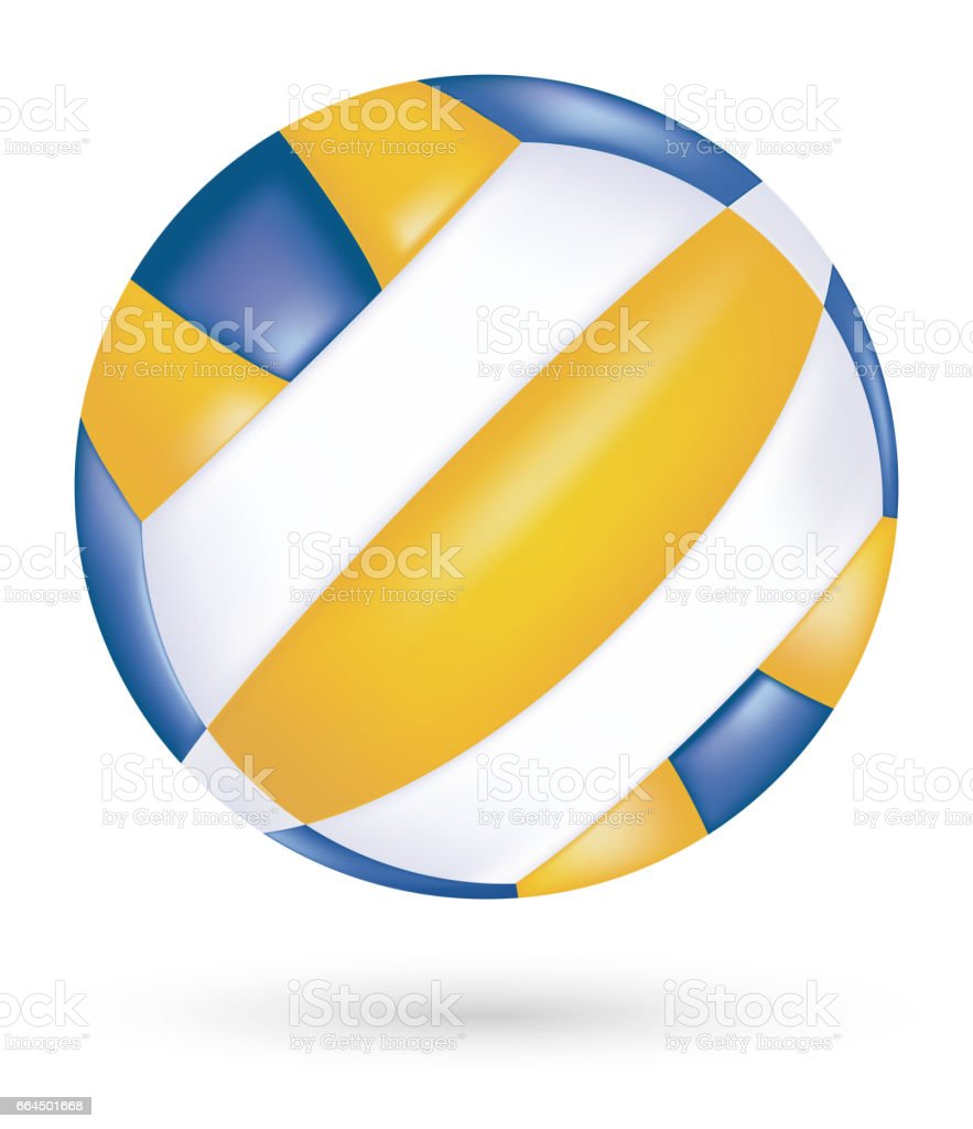 beach volleyball vector  on a white background vector art illustration