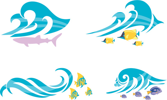 Beach Wave and Marine Life