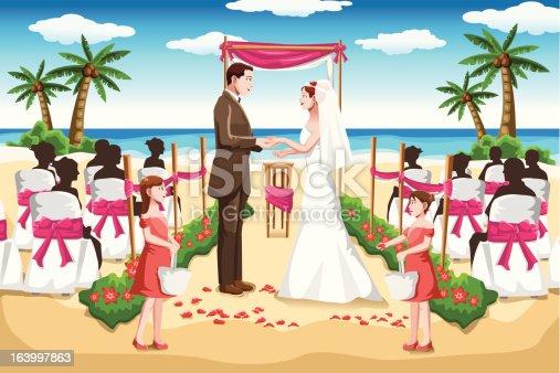 istock Beach wedding 163997863