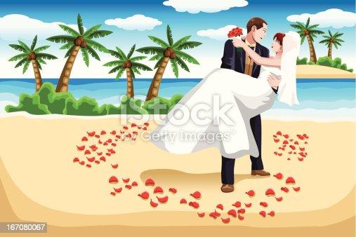 istock Beach wedding 167080067