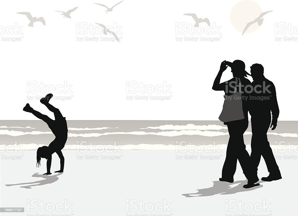 Beach'n Sand Vector Silhouette royalty-free stock vector art