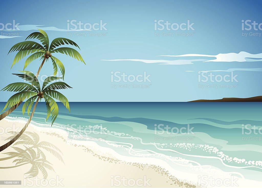 BeachScene ベクターアートイラスト