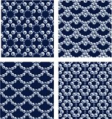 4 Seamless Beading Patterns.