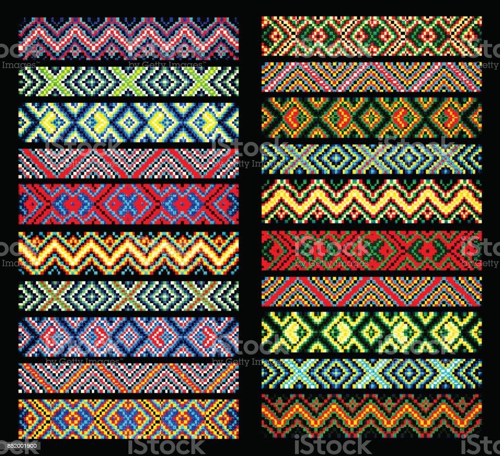Ilustración de Abalorios Diseño Diseño Tribal Abalorios Tribales ...