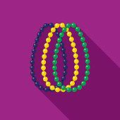Beads Flat Design Mardi Gras Icon