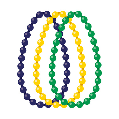 Beads Icon on Transparent Background