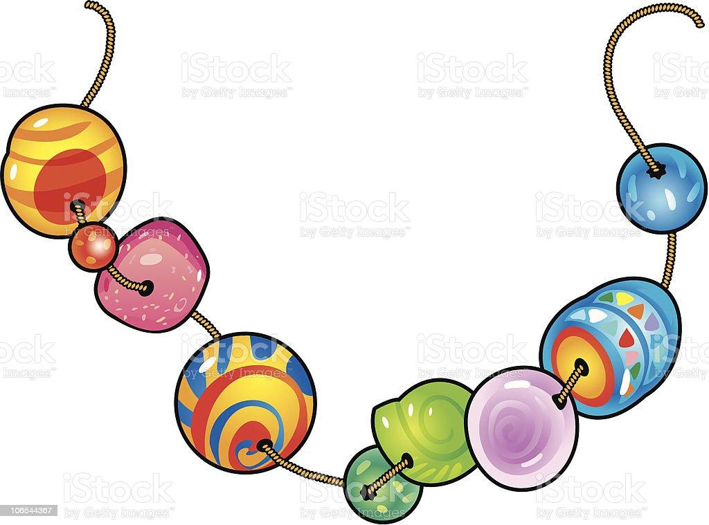 Beads royalty-free stock vector art