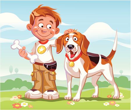 Beagle and Boy