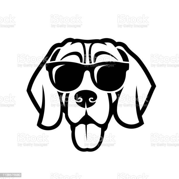 Beagle dog wearing sunglasses isolated outlined vector illustration vector id1138575580?b=1&k=6&m=1138575580&s=612x612&h=u3zynji6ovrqdggwozzb val6pqicvknrnoswljdcfe=