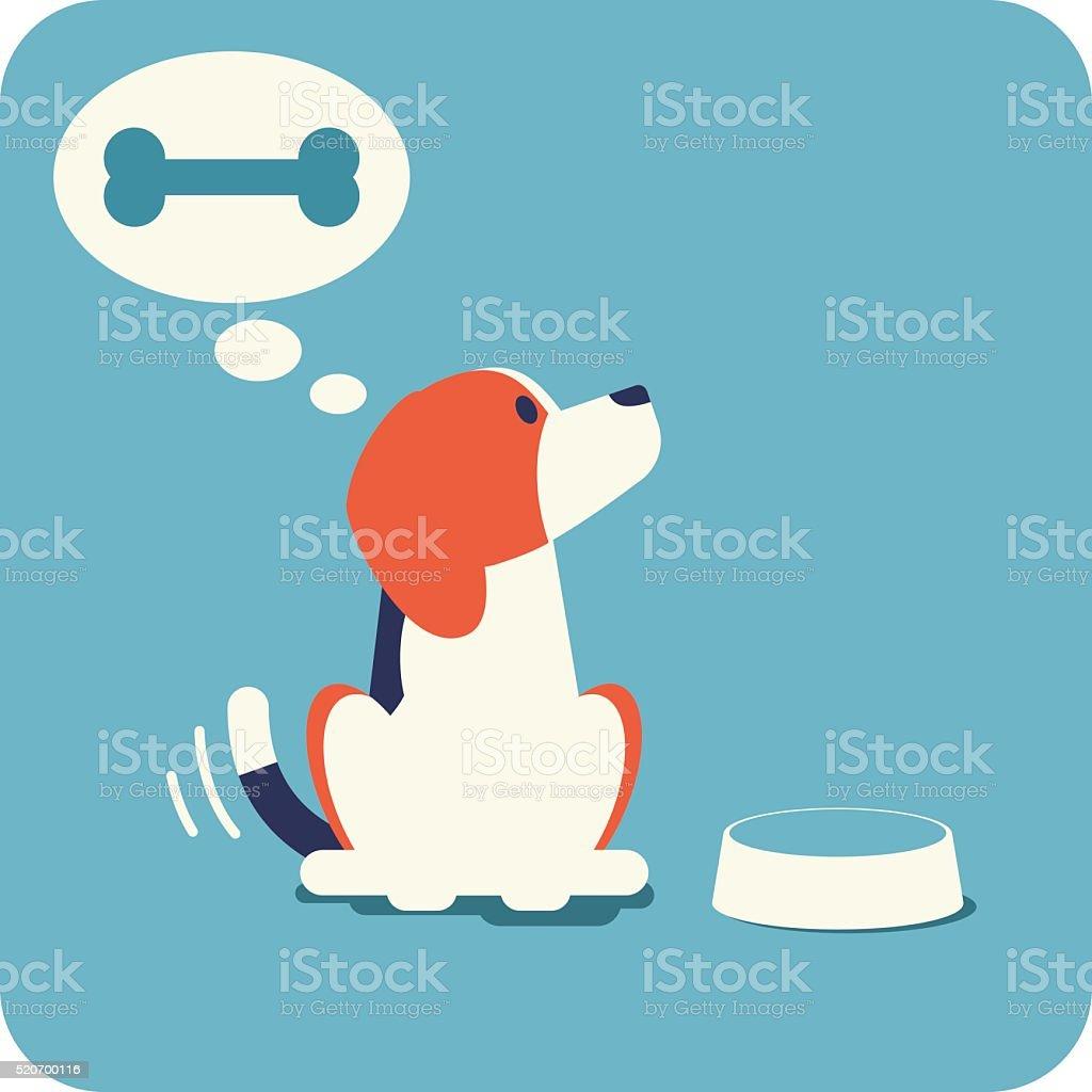 Beagle espera de lactancia. - ilustración de arte vectorial