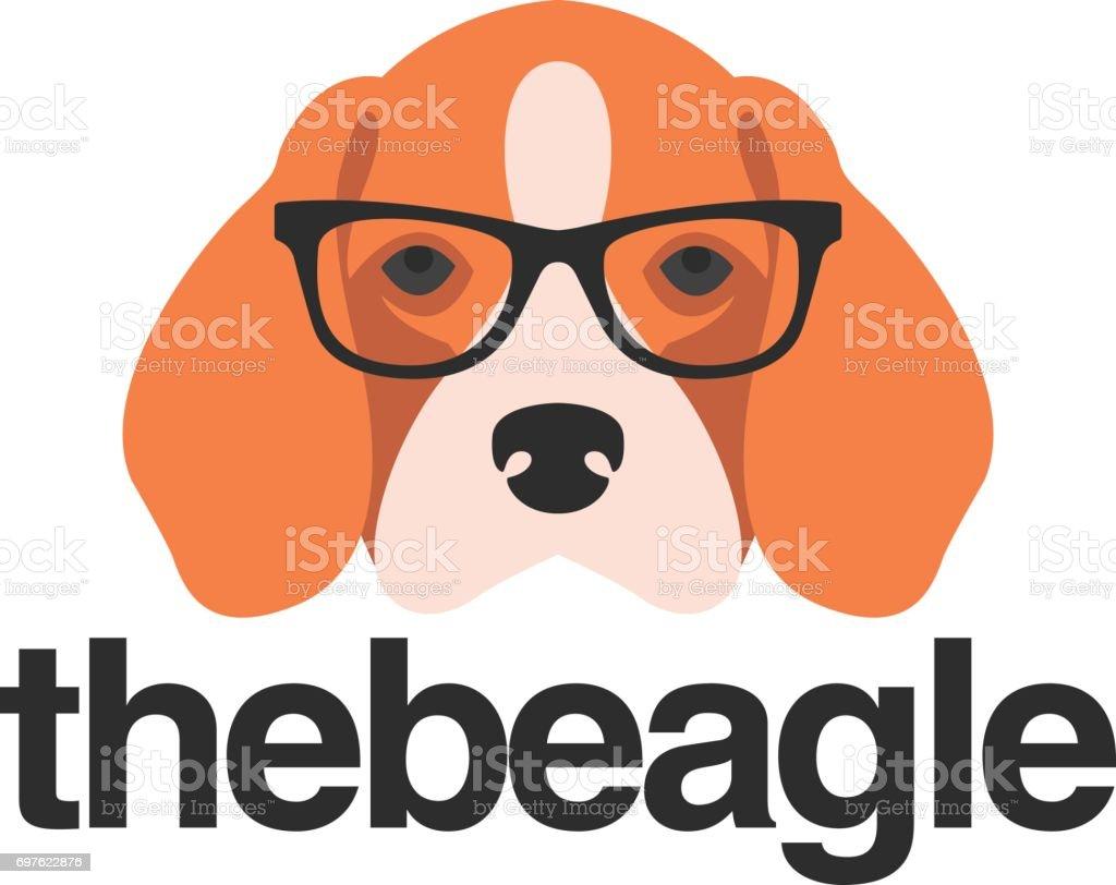 Beagle con gafas - ilustración de arte vectorial