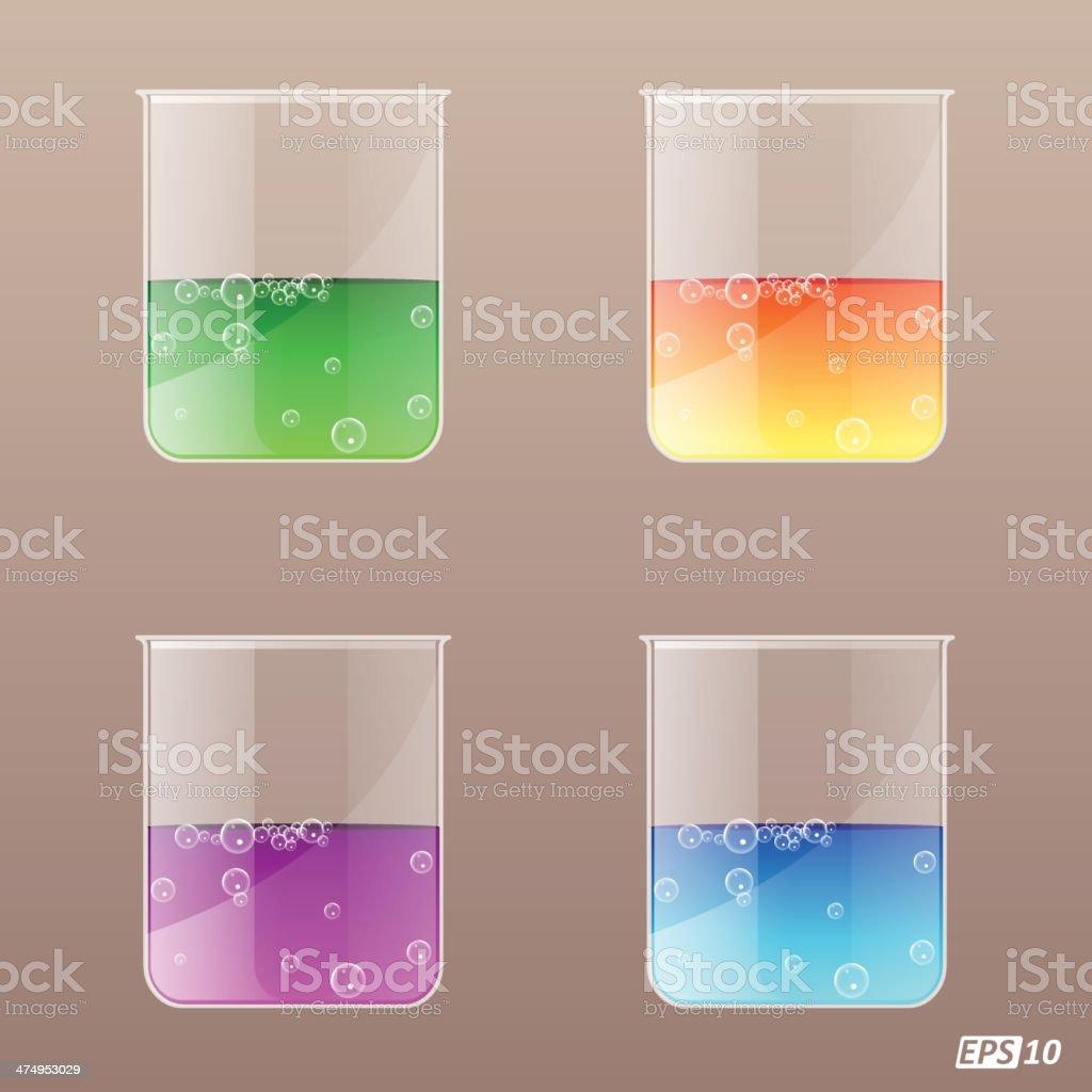 Beaker (Glass) vector art illustration