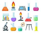 Beakers and burners set