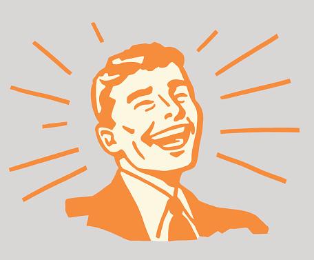 Beaming Smiling Man