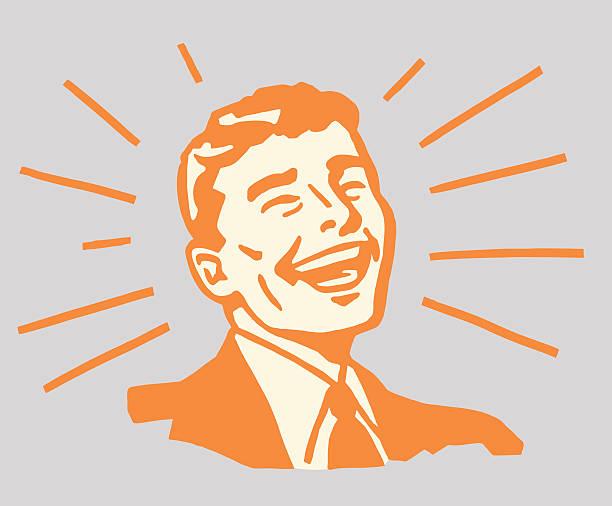きらめく笑顔男性 - 男性 笑顔点のイラスト素材/クリップアート素材/マンガ素材/アイコン素材