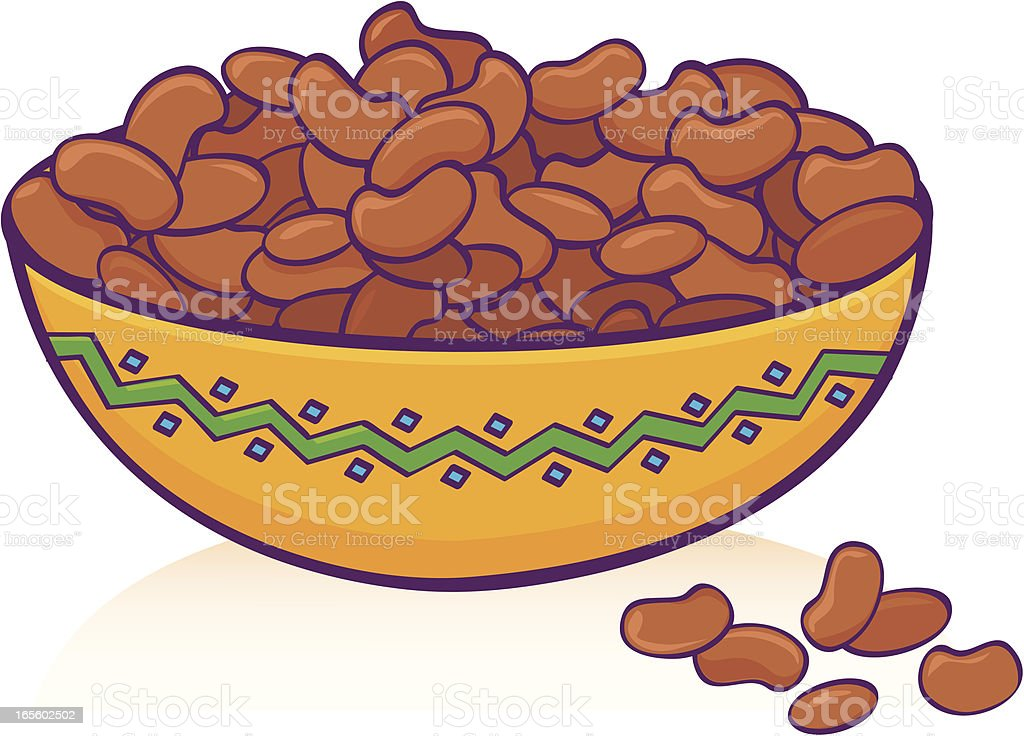 Bean bowl vector art illustration
